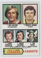 Marcel Dionne, Tim Young, Guy Lafleur, Larry Robinson, Borje Salming [Good&nbsp…