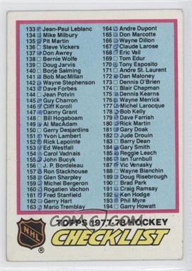 1977-78 Topps - [Base] #249 - Checklist [GoodtoVG‑EX]