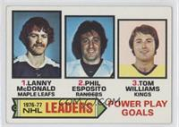 Lanny McDonald, Phil Esposito, Tom Williams [Good to VG‑EX]