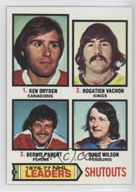 1977-78 Topps - [Base] #8 - Shutouts Leaders (Ken Dryden, Rogie Vachon, Bernie Parent, Dunc Wilson)