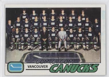 1977-78 Topps - [Base] #87 - Vancouver Canucks Team