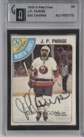 J.P. Parise [GAI Certified Encased]