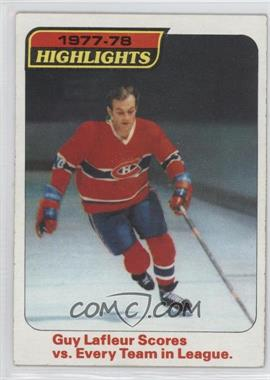 1978-79 Topps - [Base] #3 - Guy Lafleur Scores vs. Every Team in League