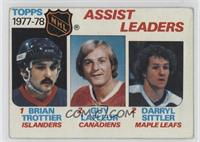 Bryan Trottier, Darryl Sittler, Guy Lafleur [Good to VG‑EX]