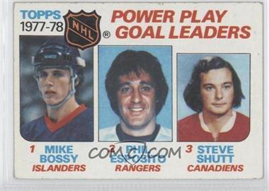 1978-79 Topps - [Base] #67 - Power Play Goal Leaders (Mike Bossy, Phil Esposito, Steve Shutt)