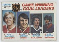 Bill Barber, Darryl Sittler, Bob Bourne, Guy Lafleur [Poor to Fair]