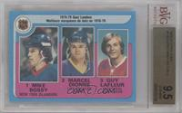 Marcel Dionne, Mike Bossy, Guy Lafleur [BVG 9.5 GEM MINT]