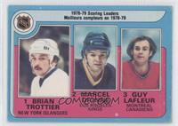Marcel Dionne, Bryan Trottier, Guy Lafleur [Good to VG‑EX]