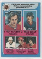 Jean Pronovost, Ted Bulley, Guy Lafleur, Mike Bossy, Bryan Trottier [Good …