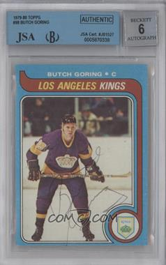 1979-80 Topps - [Base] #98 - Butch Goring [BGS/JSA Certified Auto]