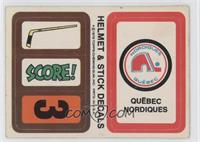 Quebec Nordiques (Personalized Trading Card Offer) [Good to VG‑…