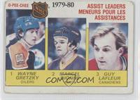 NHL Assist Leaders (Wayne Gretzky, Marcel Dionne, Guy Lafleur) [Noted]