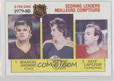1980-81 O-Pee-Chee - [Base] #163 - NHL Scoring Leaders (Marcel Dionne, Wayne Gretzky, Guy Lafleur)