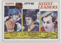 NHL Assist Leaders (Wayne Gretzky, Marcel Dionne, Guy Lafleur) [Good to&nb…