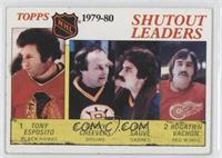 Tony Esposito, Gerry Cheevers, Rogie Vachon, Bob Sauve [Poor to Fair]