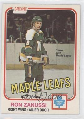 1981-82 O-Pee-Chee - [Base] #325 - Ron Zanussi