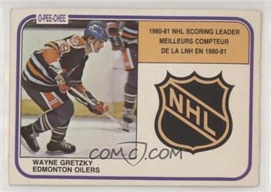 1981-82 O-Pee-Chee - [Base] #384 - Wayne Gretzky