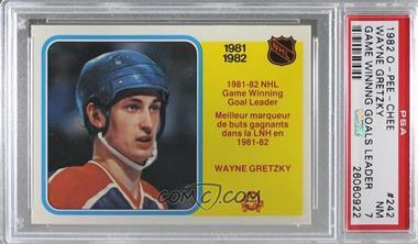 1982-83 O-Pee-Chee - [Base] #242 - Wayne Gretzky [PSA7NM]