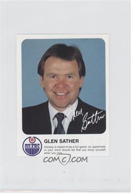 1985-86 Red Rooster Edmonton Oilers - [Base] #GLSA - Glen Sather