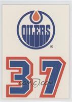 Edmonton Oilers Team (Uniform Number Below Team Logo)
