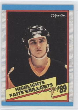 1989-90 O-Pee-Chee - [Base] #327 - 1988-89 Highlight - Mario Lemieux