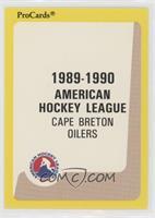 Cape Breton Oilers Checklist