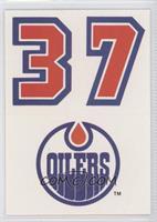 Edmonton Oilers Team (Uniform Number Above Team Logo)