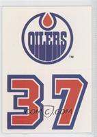 Edmonton Oilers Team (Uniform Logo Below Team Logo)