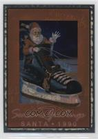 Santa Claus (Foil; Christmas Tree on Back)