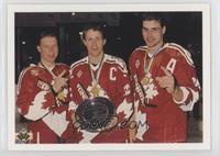 Kris Draper, Eric Lindros, Steven Rice