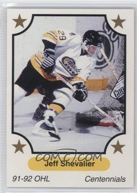1991-92 7th Inning Sketch OHL - [Base] #68 - Jeff Shevalier