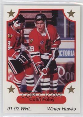 1991-92 7th Inning Sketch WHL - [Base] #37 - Colin Foley