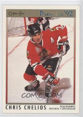 1991-92 O-Pee-Chee Premier - [Base] #17 - Chris Chelios