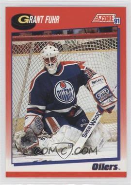 1991 92 Score Base Canadian Bilingual 114 Grant Fuhr