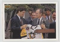 Mario Lemieux, George H.W. Bush