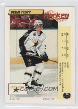 1992-93 Panini Album Stickers - [Base] - French #93 - Brian Propp