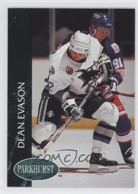 1992-93 Parkhurst - [Base] #392 - Dean Evason