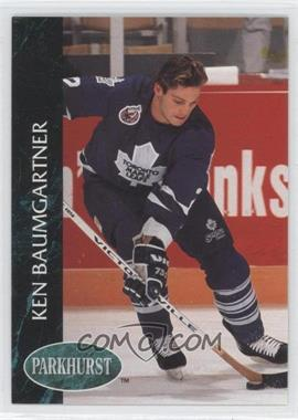 1992-93 Parkhurst - [Base] #413 - Ken Baumgartner