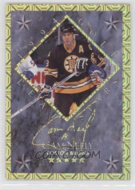 1994-95 Leaf - Gold Leaf Stars #9 - Cam Neely, Mikael Renberg /10000