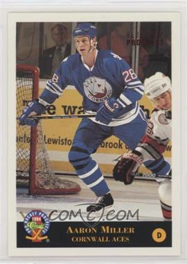 1994 Classic Pro Hockey Prospects - [Base] #105 - Aaron Miller