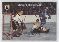 Bobby Orr, Gerry Cheevers, Jim Pappin
