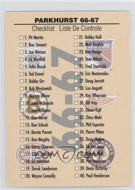 1995-96 Parkhurst 1966-67 Design - [Base] #149 - Checklist