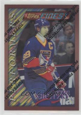 1995-96 Topps Finest - [Base] - Refractor #5 - Wayne Gretzky