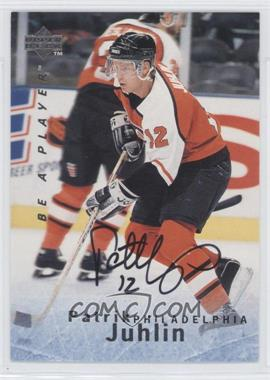 1995-96 Upper Deck Be a Player - [Base] - Autographs [Autographed] #S119 - Patrik Juhlin