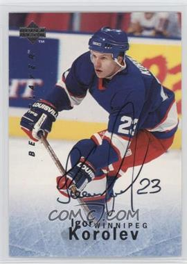 1995-96 Upper Deck Be a Player - [Base] - Autographs [Autographed] #S135 - Igor Korolev