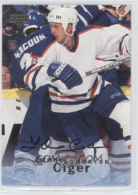 1995-96 Upper Deck Be a Player - [Base] - Autographs [Autographed] #S137 - Zdeno Ciger
