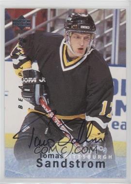 1995-96 Upper Deck Be a Player - [Base] - Autographs [Autographed] #S160 - Tomas Sandstrom