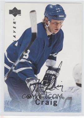 1995-96 Upper Deck Be a Player - [Base] - Autographs [Autographed] #S17 - Mike Craig