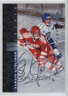 1995-96 Upper Deck Be a Player - [Base] - Autographs [Autographed] #S183 - Sandis Ozolinsh