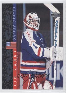 1995-96 Upper Deck Be a Player - [Base] - Autographs [Autographed] #S189 - Jim Carey